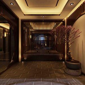 翡翠御园-1000㎡-新中式-庭院