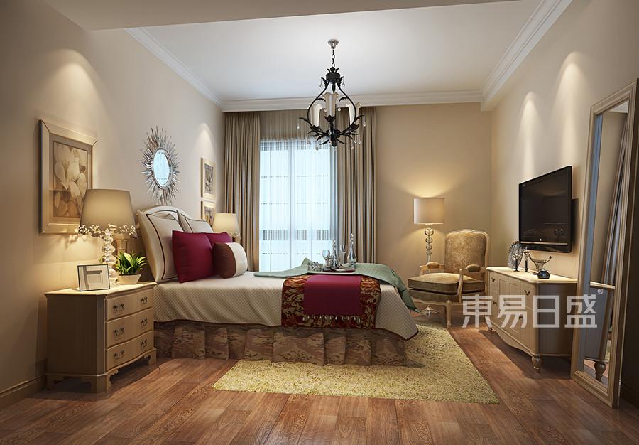 相江公寓欧式古典风格卧室效果图效果图_2019装修案例