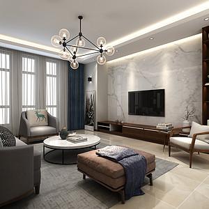 十里洋房-三室二厅-现代简约风格装修案例