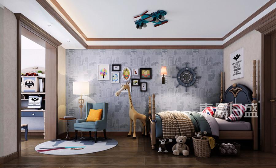 美式新古典儿童房装修设计