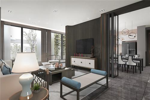 上海金融家150㎡新中式装修效果图 上海金融家150㎡家装案例
