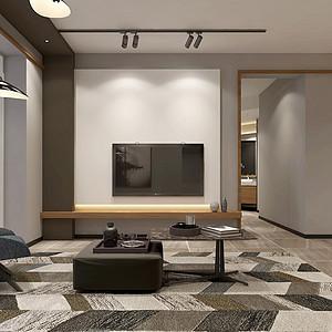 现代北欧风格客厅装修设计