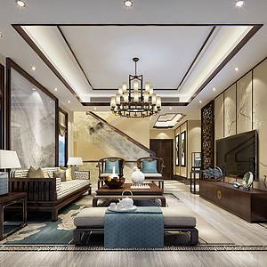 黄龙溪谷380㎡别墅现代中式风格