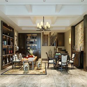 重庆室内设计案例:龙湖新江与城165平米简欧风格