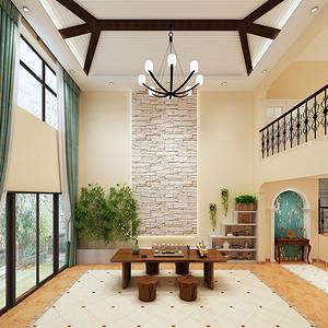 茶室装修效果图-别墅装修设计方案