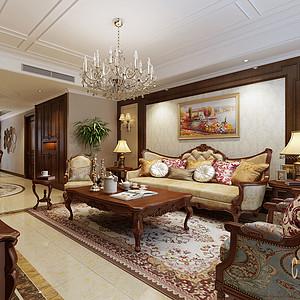 南海玫瑰园 简美风格 客厅装修效果图