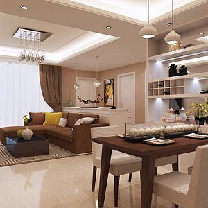 深业东岭 家装现代简约风格案例 客厅