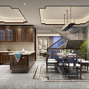 龙湫湾新中式风格厨房