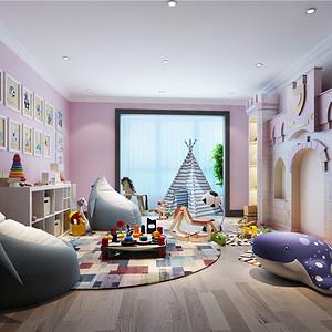 儿童房现代美式装修效果图
