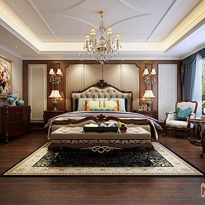南海玫瑰园 简美风格 卧室装修效果图