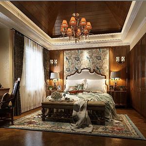 汤逊湖壹号美式风格卧室装修效果图