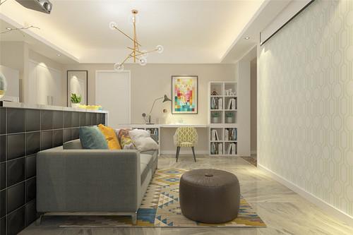 和平乐璟公寓-现代北欧风格-73平米