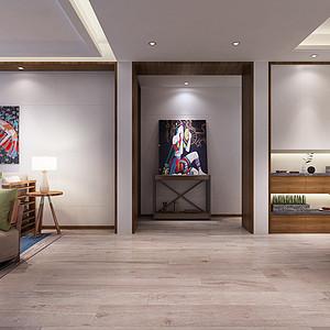 昆明海珀澜庭140㎡三居室简约现代风格装修效果图