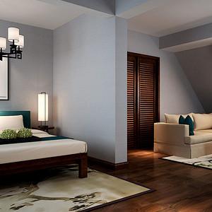 南海玫瑰园 新中式风格卧室装修效果图