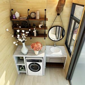 绿地公馆别墅现代台式厨房装修效果图