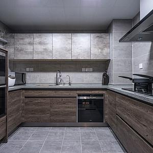 124㎡三居现代简约风格厨房效果图