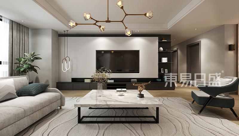 木质的电视墙设计 以木饰面设计的背景墙能为冰冷的空间创造一些温暖
