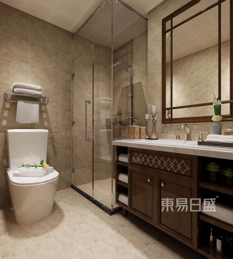 四居室-新中式-卫生间-效果图
