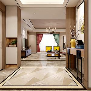 新中式风格玄关装修设计
