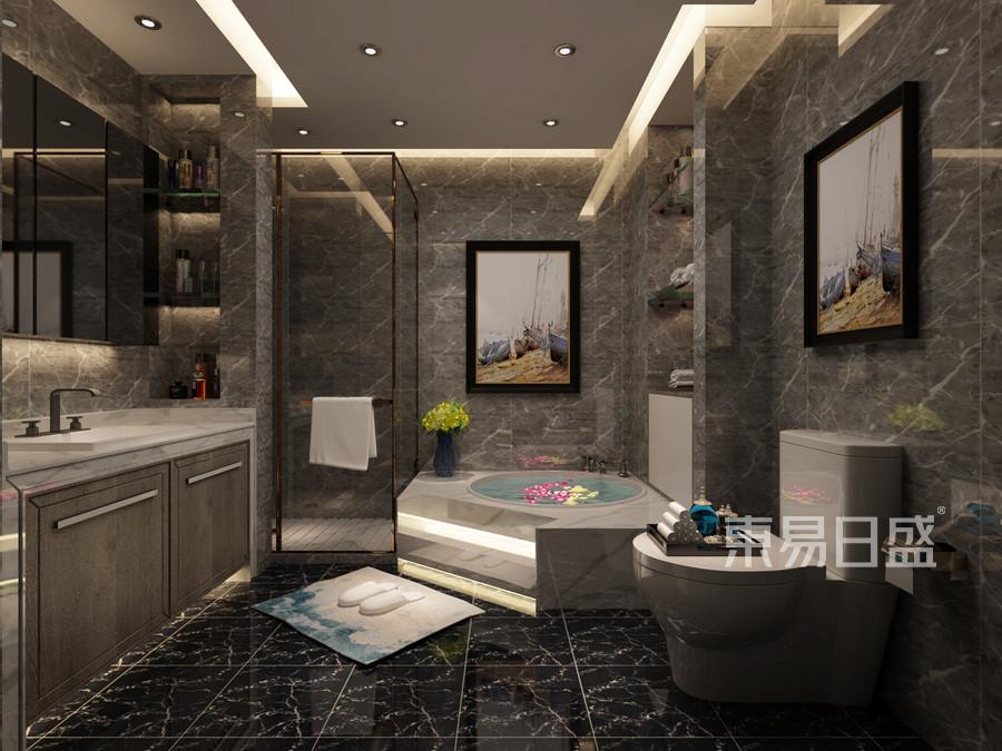 别墅-现代简约-卫生间-效果图