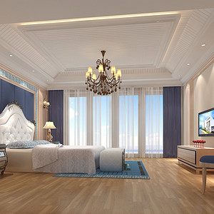 二楼卧室地中海式