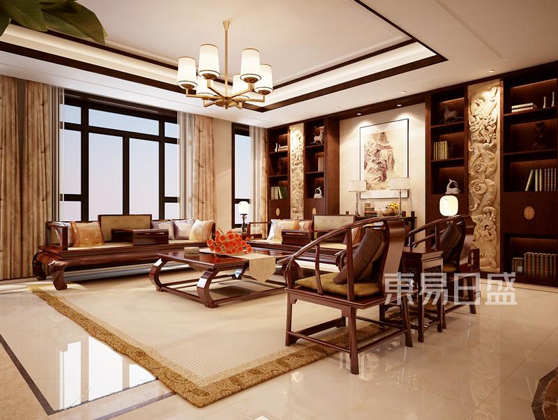 新中式 - 浦江华侨城 新中式 客厅 装修效果图案例图片