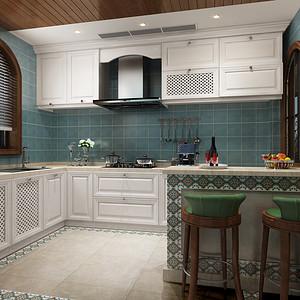 美式混搭风格厨房