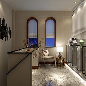 碧桂园新中式风格收藏区装修案例效果图