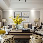 盛世御城120平三室二厅简美风格装修实景图