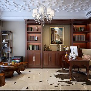 书房欧式装修效果图-书房装修效果图 书房装修图片 书房装修效果图大