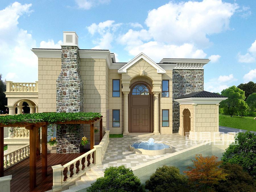 700平独栋别墅现代轻奢风格庭院装修效果图
