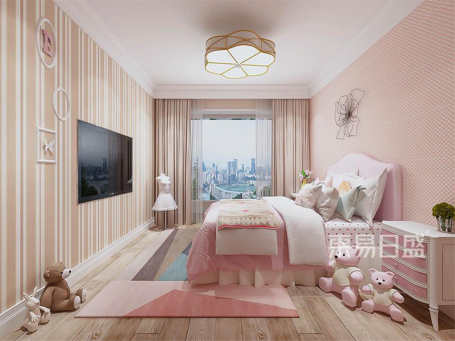 170平和逸居欧式风格女孩房装修效果图