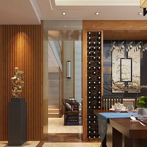 复式新中式风格餐厅装修效果图