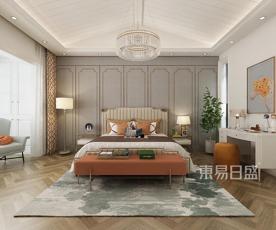 卧室装修效果图 西安别墅装修设计公司东易日盛怎么样