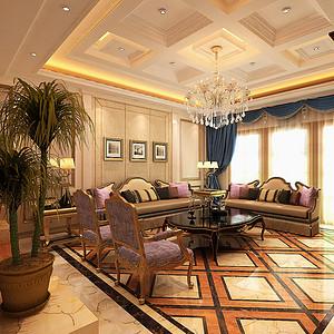 梅江南四号院别墅-美式风格-600平米