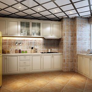 135㎡三居室现代简约风格厨房效果