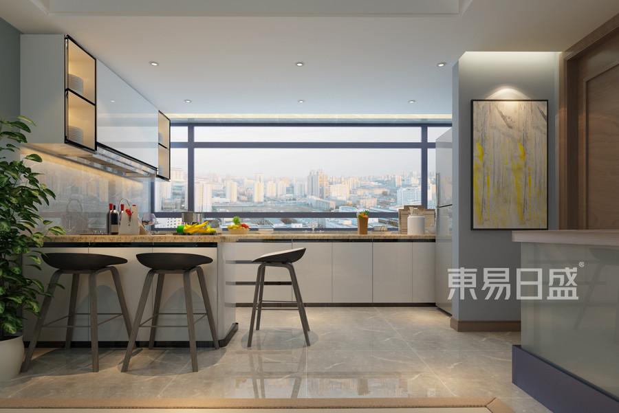 别墅-现代简约-厨房-效果图