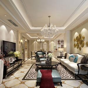 碧桂园260平米顶跃古典欧式风格设计