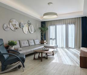 枫丹壹号-现代简约风格-一层客厅