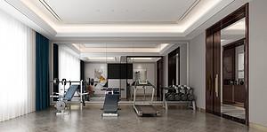 现代风格健身房装修效果图