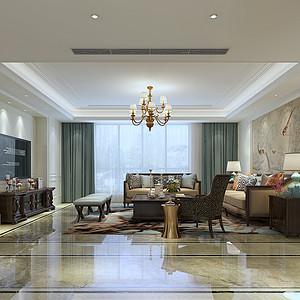 广电天韵简美风格280平米高层