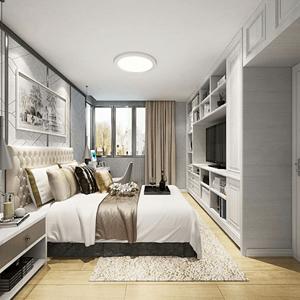 现代简约卧室色彩简洁使人身心愉悦、陶