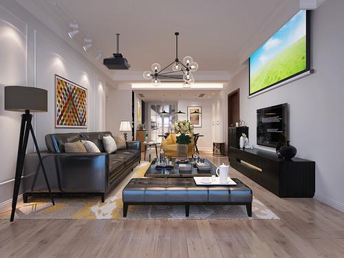 观澜国际128平米现代美式风格设计