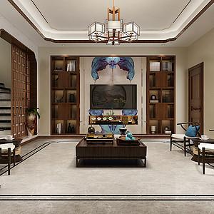 新新逸墅-新中式风格-300平米