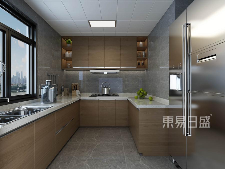 四居室-新中式-厨房-效果图