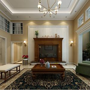 新美式风格客厅