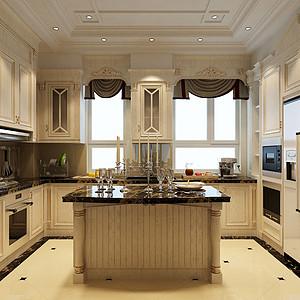 大连欧式古典装修-厨房