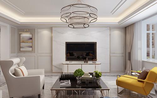 帝王国际190平米四室两厅美式轻奢风格