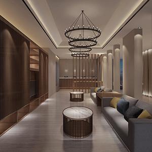 金沙世纪城-诗意东方-客厅装修效果图