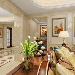 富春风景250㎡法式风格客厅效果图